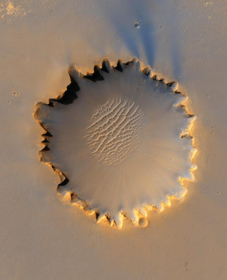 Mars' Victoria Crater at Meridiani Planum.